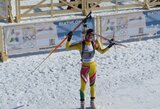 G.Leščinskaitė tik per plauką nepateko į pasaulio biatlono taurės persekiojimo lenktynes
