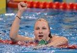 Vos į finalą patekusi R.Meilutytė pagerino J.Jefimovos sezono rekordą ir triumfavo Prancūzijoje