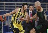 """Eurolyga pripažino svarbią teisėjų klaidą """"Panathinaikos"""" ir """"Fenerbahče"""" mače"""