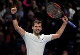 G.Dimitrovas užbaigė J.Socko svajonių sezoną ir pateko į baigiamojo metų ATP turnyro finalą
