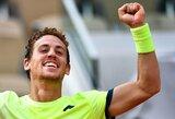 Beveik 5 valandų teniso dramoje – ispano staigmena (papildyta)