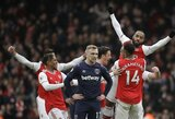 """Trys pergalės iš eilės: formą gerinantys """"Arsenal"""" nugalėjo ir """"West Ham United"""""""