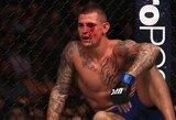 """""""UFC 211"""": Įspūdingą kovą sustabdė neteisėtas sirgalių nušvilpto E.Alvarezo smūgiai keliu"""