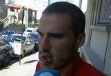 """Pamatykite: skaudus susidūrimas sukrėtė net varžovą – """"Deportivo"""" žaidėjui A.Bergantino prireikė 70-ies siūlių"""