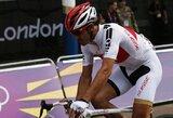 Londono olimpinių žaidynių grupinėse dviračių lenktynėse griuvęs F.Cancellara išvengė rimtesnių sužeidimų