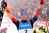 Pasaulio biatlono taurės etape pergale džiaugėsi vokietis S.Schemppas