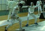 Europos jaunimo fechtavimo čempionate džiuginęs L.Kalininas aplenkė daugiau nei 90 varžovų