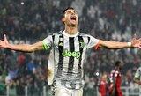 """96-ąją minutę """"Juventus"""" pergalę išplėšęs C.Ronaldo: """"Mūsų moto yra kovoti iki pabaigos"""""""