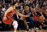 """Rekordinę seriją fiksuojanti """"Raptors"""" sugadino D.Russello debiutą"""