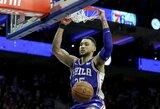 Niujorke trigubą dublį atlikęs B.Simmonsas įsirašė į NBA istoriją