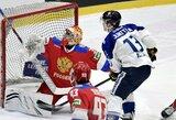 Suomiai per 7 minutes nugalėjo rusus, švedai įveikė čekus