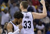 """Į savo areną sugrįžusi """"Grizzlies"""" atsitiesė prieš """"Spurs"""""""