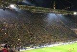 """Rungtynių metu stadione mirė """"Borussia"""" fanas"""