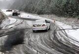 """Lenktynių """"Nemuno Žiedo žiema"""" trečiasis etapas sulaukė sniego ir ledo"""