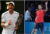 """A.Murray'us ir K.Nishikori traukiasi iš """"Australian Open"""" turnyro"""