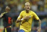 Brazilija iškovojo antrą pergalę iš eilės, Argentina be L.Messi neįveikė Venesuelos