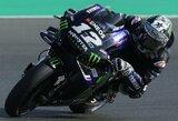 """M.Vinalesas laimėjo pirmąją """"MotoGP"""" sezono kvalifikaciją, jo komandos draugas V.Rossi – toli nuo lyderių"""