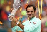 101-ą titulą laimėjęs R.Federeris toliau vejasi visų laikų rekordininką