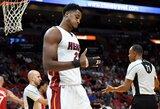 """H.Whiteside'as: """"Būtų nuostabu, jeigu Wade'as grįžtų į """"Heat"""""""