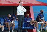 """""""Barcelona"""" strategas R.Koemanas įvardijo, kokį pokytį įves komandos žaidime"""