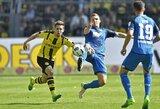 """""""Borussia"""" kontraversiškai palaužė """"Hoffenheim"""", """"Bayern"""" išsiuntė """"Darmstadt"""" į antrą divizioną"""