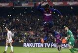 """Ispanijos Karaliaus taurė: """"Barcelona"""" nepaliko šansų trečios lygos komandai"""