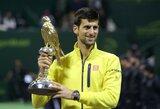 N.Djokovičius teniso turnyro Dohoje finale įspūdingai sutriuškino R.Nadalį