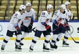 Pasaulio ledo ritulio čempionate amerikiečiai ir čekai triuškino savo varžovus
