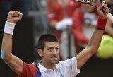 Favoritai pateko į ATP serijos teniso turnyro Italijoje pusfinalį