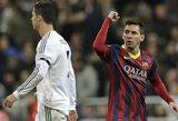 """Dešimtyje likęs """"Real"""" klubas neatsilaikė prieš skaudžius teisėjo sprendimus ir L.Messi vedamą """"Barceloną"""""""
