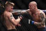 """UFC Stokholme: """"užsmaugto"""" A.Gustafssono karjera greičiausiai baigėsi, A.Rakičius spyriu į galvą nokautavo britą per 42 sekundes"""