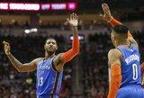 Hiustone – įspūdingi NBA žvaigždžių pasirodymai ir dramatiška mačo pabaiga