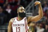 """J.Hardeno ir C.Capelos duetas atvedė """"Rockets"""" į nesunkią pergalę"""