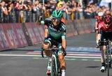 """Dvyliktasis """"Giro d'Italia"""" etapas: žvaigždžių pasitraukimai ir naujas bendros įskaitos lyderis"""