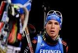 M.Fourcade'o pergalių serija nutrūko, Lietuvos biatlonininkai pasirodė nesėkmingai