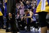 """K.Durantas patyrė kelio traumą, """"Warriors"""" pralaimėjo, o J.Wallas pagerino rekordą"""