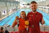 Sužibo nauja plaukimo žvaigždė: po devynerių metų pertraukos pagerino R.Meilutytės rekordą