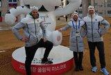 Lietuvos slidininkai atvyko į Pjongčangą