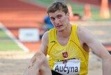 Šuolininkas į tolį D.Aučyna pasiekė geriausią Lietuvos sezono rezultatą