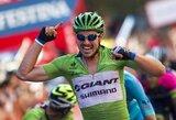 """J.Degenkolbas laimėjo jau trečią šių metų """"Vuelta a Espana"""" dviračių lenktynių etapą"""