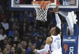 """R.Westbrookas – be dviejų taškų nuo trigubo dublio, """"Thunder"""" laimėjo solidaus rezervo dėka"""