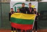 Dar vienas Lietuvos tenisininkų auksas Rytų Europos keturiolikmečių čempionate
