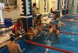 Ekstremalus plaukimas: treniruotę surengė SPA centro baseine
