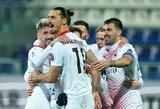 """Z.Ibrahimovičius pelnė dublį, o """"AC Milan"""" iškovojo dar vieną pergalę"""