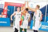 Europos žaidynės prasidėjo Lietuvos 3x3 krepšinio rinktinės pergale