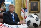 Susierzinęs D.Trumpas pagrasino nebežiūrėti NFL ir JAV futbolo federacijos organizuojamų rungtynių