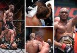 UFC dominuojantis čempionas K.Usmanas techniniu nokautu trečiame raunde palaužė ašarų po kovos nesulaikiusį G.Burnsą