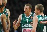 """Į """"Top 16"""" – su žemiau galimybių ribos rungtyniaujančiais lietuviais ir lankstumą parodžiusiu G.Krapiku"""