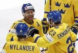 Švedai pasaulio čempionate atseikėjo norvegams net 9 įvarčius