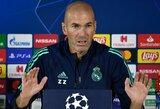 """Apie C.Ronaldo palikimą Madride prabilęs Z.Zidanas: """"Mes norime viską tęsti, nes tai yra mūsų DNR"""""""